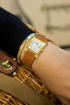 Hermes watch and Cartier bracelet - nice duo!
