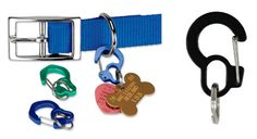 Rubit Dog Tag clips - if your dog's a fashionista who changes collars every day