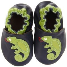 Stay on chameleon slippers (0-6 months)