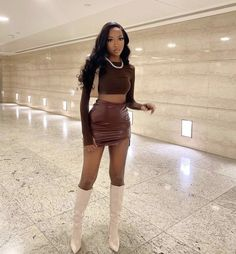 Boujee Outfits, Baddie Outfits Casual, Cute Swag Outfits, Cute Casual Outfits, Fashion Outfits, Looks Street Style, Looks Style, Brown Outfit, Looks Chic