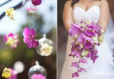 Pretty cascading orchid bouquet
