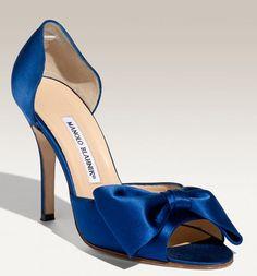 sapphire blue Manolos