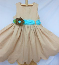 Classic Dress in Tea Dyed Muslin and Dupioni Silk by OliviaMadeNew, $65.00