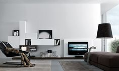 33 Modern Wall Units Decoration from Jesse Modern Tv Wall Units, Modern Wall, Living Room Furniture, Modern Furniture, Tv Furniture, Wall Storage Systems, Living Room Arrangements, Modern Loft, Decoration Table