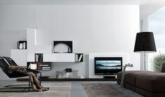 Jesse Open Wall Unit Composition , Wall storage systems, Go Modern Furniture Modern Tv Wall Units, Modern Wall, Living Room Furniture, Modern Furniture, Tv Furniture, Wall Storage Systems, Living Room Arrangements, Modern Loft, Decoration Table