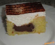 Pudingovo šľahačkový koláčik. Neskutočná dobrota.