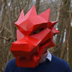 These plans enable you turn any recycled card into a 3D Low Polygon Dragon Mask. Just print the templates on paper, stick them to card, cut them out, match the