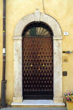 Textured Door in Italy