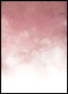 Rosa graderad poster med moln