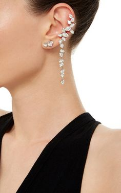 Ryan Storer Crystal Drop Ear Cuff #resort2016