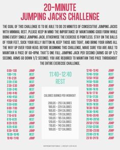 20-minute jumping jack challenge