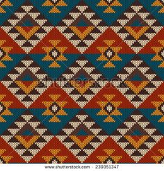 Tribal Aztec Pattern on the wool knitted texture. Tapestry Crochet Patterns, Patchwork Patterns, Bead Loom Patterns, Beading Patterns, Cross Stitch Patterns, Maori Patterns, Native American Patterns, Knitted Afghans, Pattern Images