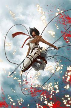 Mikasa Ackerman 進撃の巨人/Attack On Titan/Shingeki No Kyojin Manga Anime, Film Manga, Fanarts Anime, Mikasa, Levi X Eren, Armin, Levi Ackerman, Fan Art, Art Naruto