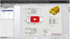 The trouble with generating inspection reports for drawings with a lot of dimensions and other inspectable items is that the Bill of Characteristics won't fit onto a single page. Watch the video blog on how @SOLIDWORKS Inspection allows you to print multi-page first article inspection reports.   Read the complete tech tip here: http://blog.capinc.com/2015/08/printing-a-multi-page-first-article-inspection-report-fair-using-print-titles/