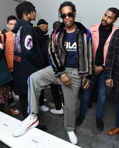SPOTTED: A$AP Rocky In Gosha Rubchinskiy x Fila Sneakers And T ...