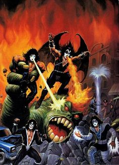 Kiss Merchandise, Kiss World, Vintage Kiss, Kiss Art, Band Wallpapers, Hot Band, Picture Albums, Poster Pictures, Rock Music