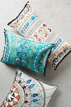 Seraphim Pillow  Would love some pretty new throw pillows for the couch and the bed in any shade of blues and greens.