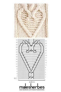 Heart cable pattern