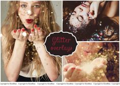 40 Sparkling Blow Glitter Photo Overlays - Photoshop Sparkles layer - Blowing magic pixie dust effect - Marketing board mini Sessions