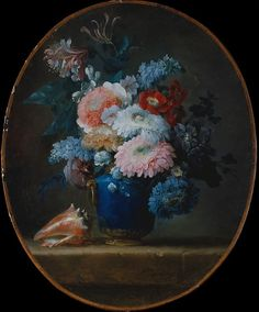 Anne Vallayer-Coster (French, 1744–1818). Vase of Flowers and Conch Shell, 1780. The Metropolitan Museum of Art, New York. Gift of J. Pierpont Morgan, 1906 (07.225.504) #spring