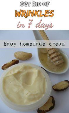 Easy homemade cream that will get rid of wrinkles in just 7 days - Beauty-TipsZone.com #homemadewrinklecreamsbeauty #facecreamshomemade