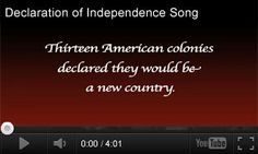 Independence Day Video: Declaration of Independence Song http://www.teachervision.fen.com/fourth-of-july/video/73340.html Learn about the American Revolution and the Declaration of Independence through the catchy song in this music video. It's paired with three classroom activities for grades 4-8. #FourthOfJuly #AmericanHistory