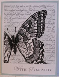 In My Craft Room: Swallowtail Sympathy card - cased