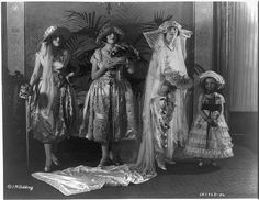 The bridal outfit, a noteworthy display at the fashion show. Photo by Underwood & Underwood, 1921. Miscellaneous Items in High Demand, Library of Congress Prints and Photographs Collection.