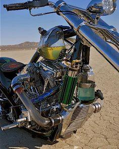 Alan Lee bike...glass gas tank & intake tube