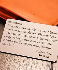 'Every Day Since the Day We Met' Personalized Wallet Card Insert