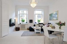 Scandinavian design living room pictures