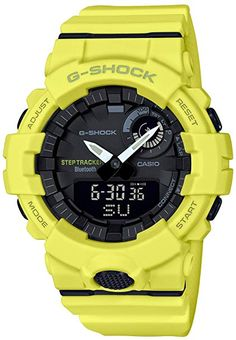 ab01e6555fe G-Shock Men s Analog-Digital Step Tracker Yellow Resin Strap Watch Jewelry    Watches - Watches - Macy s