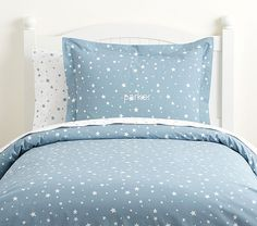 Find kids bedding sets for boys and girls at Pottery Barn Kids. Shop your kids favorite prints and characters in bedding sets that they will love. Duvet Bedding, Bedding Sets, Flannel Duvet Cover, Cool Glow, Bedding Basics, Small Furniture, Baby Furniture, Shining Star, Blue Bedroom