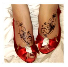 Foot Tattoos by ~thisisyesterday