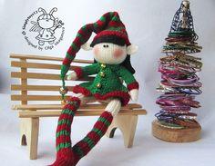 Doll Elf girl. New year Elf. Christmas Elf. Amigurumi doll. Amigurumi Elf doll. by Symplytoys13 on Etsy