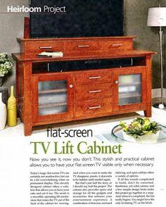 tv lift cabinet plans furniture plans