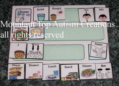 19 Pecs Autism Mini Communication Board by autismcreations on Etsy, $7.00