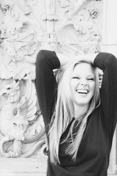 Live in the Moment  Portrait  Teen  Black and White  Laugh  Senior Photo Shoot - senior picture ideas for girls