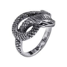 Foxy Snake Coil Wrap Around .925 Ring