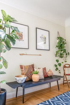"""HomePolish design.  Home of Janette and Viv, SF.   """"I love textiles from around the world - it amazes me that for thousands of years, similar patterns and colors were being used by cultures across the globe from each other. I love combining them in a fresh way."""""""