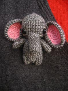 Elephant pin by Duygu Bircan