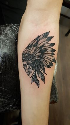 My Native american headdress tattoo to remind me of a great part of my life! Artist is Merry Morgan at Imperial Tattoo Company Bath England.