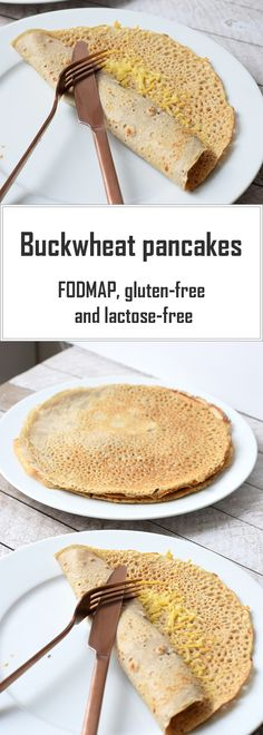 Simple buckwheat pancakes, Dutch style. Low FODMAP, gluten-free and lactose-free.