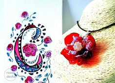 eco friendly recycled unique jewellery necklace via rosas de cha. Click on the…