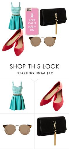 """""""michelle"""" by hemillydias ❤ liked on Polyvore featuring beauty, Wet Seal, Linda Farrow, Yves Saint Laurent and Casetify"""