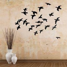 Vinilos Decorativos: Animal silueta #vinilo #pared #patos #decoracion #casa #pájaro #ave #TeleAdhesivo