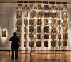Bronzes de Benin expostos no Museu Britânico, Londres, 2014.