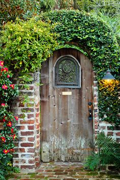 Garden door at Charleston Farmhouse In the garden Pinterest