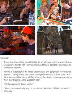 I love to read stories where Harry and Draco are friends... I love Draco.