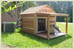 This site has some awesome dog houses with #A/C. Now all they need is a #boiler or #Heat
